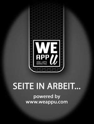 Willkommen am neuen Server<br>Seite in Arbeit... powered by WeAppU.COM - APPS | WEB | MARKETING